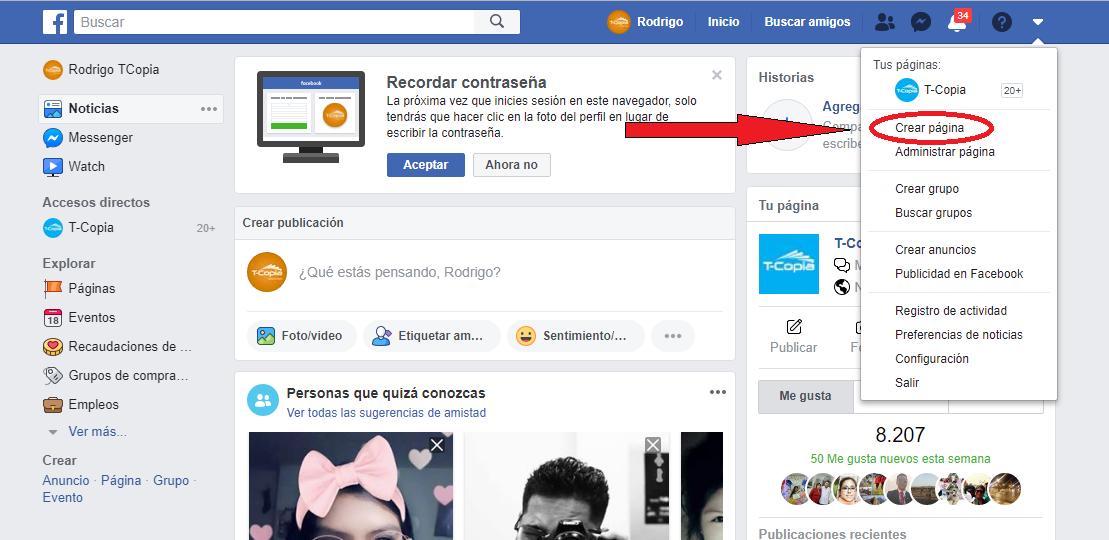 página empresarial facebook