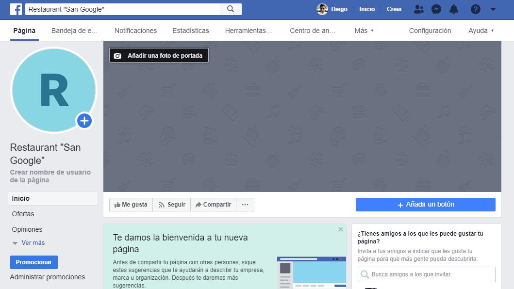facebook pagina empresarial
