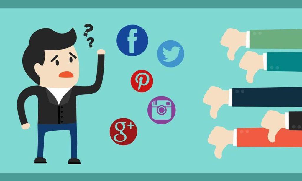 Errores más comunes que se cometen en las redes sociales.