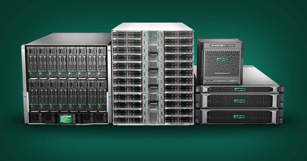 Tipos y modelos de servidor hp